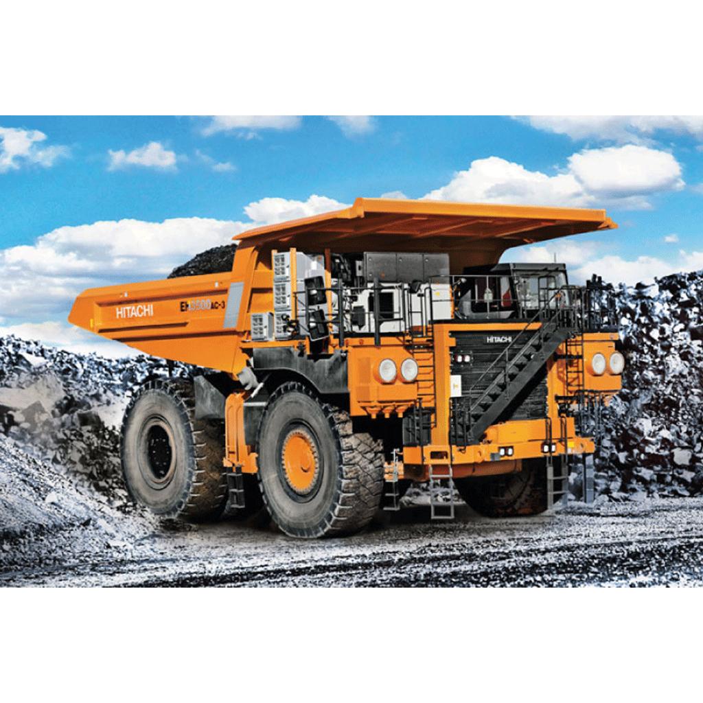 Hitachi mining vehicle